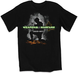 Weapons Of Our Warfare T Shirt: Black, Adult Medium
