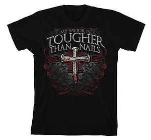 Tougher Than Nails 3 T Shirt: Black, Adult Large