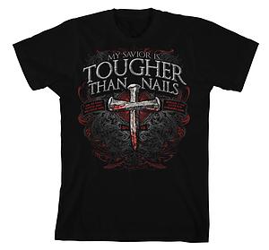 Tougher Than Nails 3 T Shirt: Black, Adult Medium
