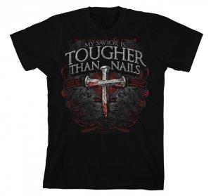 Tougher Than Nails 3 T Shirt: Black, Adult XL