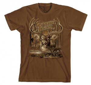 As The Deer 2 T Shirt: Brown, Adult Large