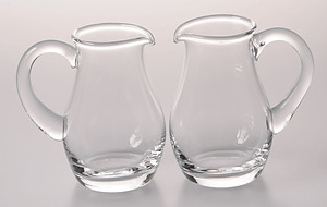 Crystal Glass Cruet Set of 2