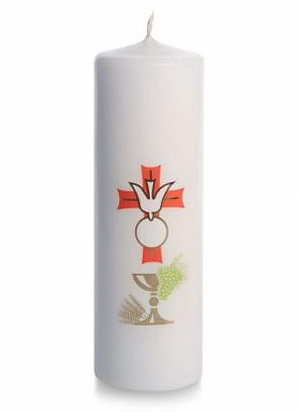First Communion and Confirmation Candle Single