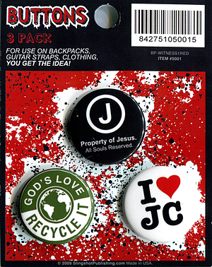 Witness Badges I Love JC - Pack of 3