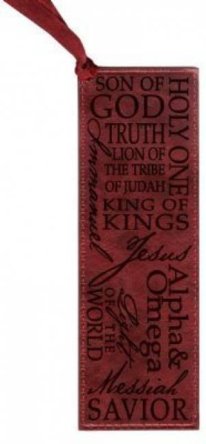 Luxleather   Names Of Jesus Bookmark