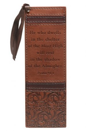 He Who Dwells LuxLeather Book Mark