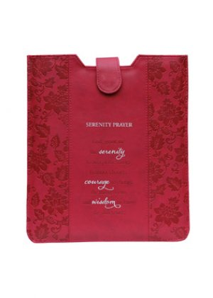 Serenity Prayer Pink LuxLeather Tablet Cover