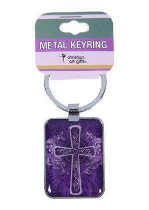 Purple Cross Keyring
