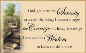 Pass Around Cards - The Serenity Prayer