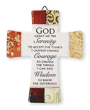 Serenity Prayer Porcelain Cross