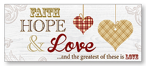 Faith Hope Love Wall Plaque