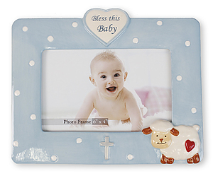 Bless this Baby Blue Photo Frame