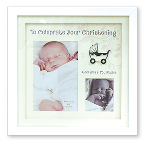 Christening Box Photo Frame