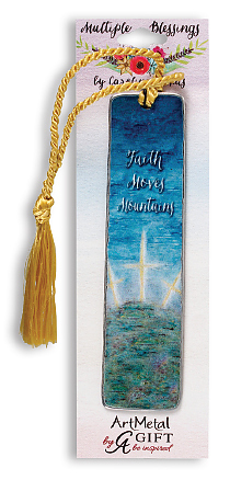 Faith Moves Mountains Metal Bookmark