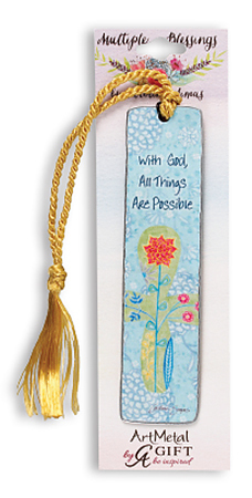 With God All Things are Possible Metal Bookmark