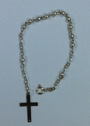 Sterling Silver Rosary Bracelet Buy Now Eden Co Uk Free Delivery