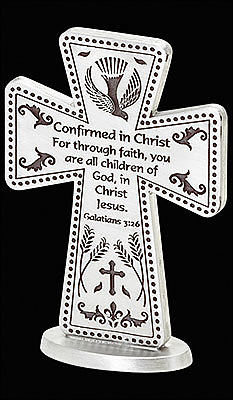Confirmation Pewter Standing Cross