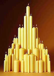 """Paschal Candle 36"""" x 3"""" (Each)"""