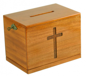Lockable Offering Box (Natural)