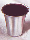 Stainless Steel Cups: 1.125 inch High, Pack of 12