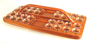 Mahogany Tray-Rectangular with bread space