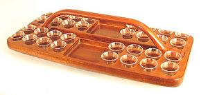 Mahogany Tray-Rectangular with bread space