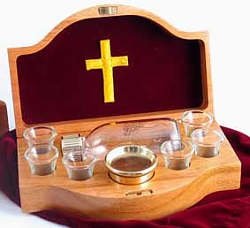 Portable Communion Set Red