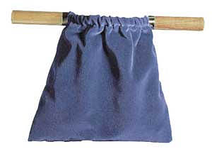 Offering Bag - Dark Blue - Natural Wood Handles