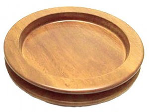 Mahogany Stacking Bread Plate