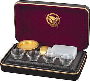 Portable Communion Set - Brasstone