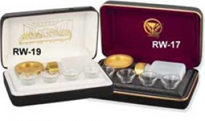 Portable Communion Set - Brasstone (White Lining)