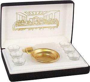 Portable Communion Set: Brasstone