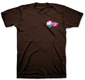 Faith Hope Love & Chocolate T Shirt: Brown, Adults Large