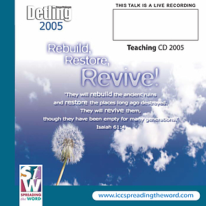 Detling 2005 Change the World MP3 CD a talk by Rev Eric Delve & Simon Guillebaud