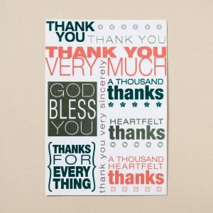 Thank You - A Thousand Thanks - 6 Premium Card