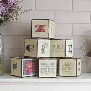 Redeemed - Inspirational Wooden Blocks, Set of 6