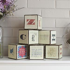Redeemed - Inspirational Wooden Blocks, Set of 6