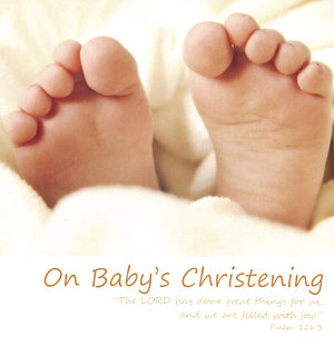 On Baby's Christening - Single Card