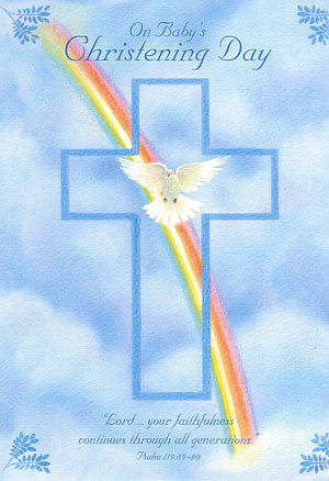 On Baby's Christening Day - Single Card