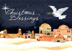 Christmas Blessings Christmas Cards - Pack of 10
