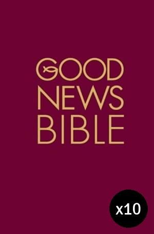 Good News Bible Burgundy, Hardback Pack of 10