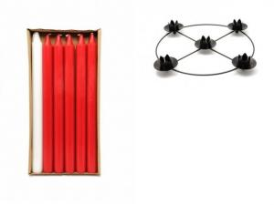 5 Red & 1 White Advent Candle (1 1/8