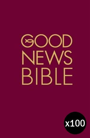 Good News Bible: Burgundy, Hardback Pack of 100