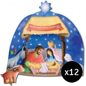 Build Your Own Stand Up Nativity Pack of 12