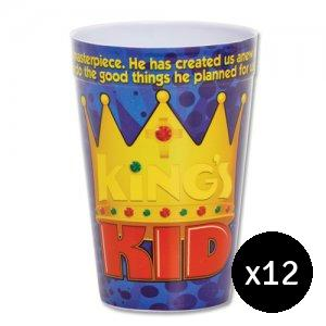 King's Kid Plastic Tumbler Pack of 12