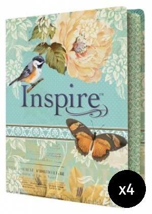 NLT Inspire Bible Pack of 4