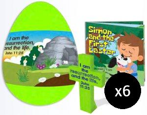 Jumbo Gospel Egg with Cross and Booklet - Pack of 6