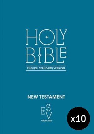 ESV New Testament Anglicised - Pack of 10