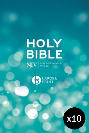 NIV Larger Print Bible - Pack of 10
