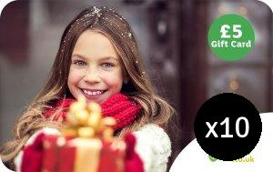 Christmas £5 Gift Card 10 Pack